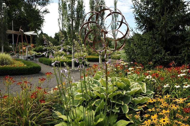 jardin contemporain moderne