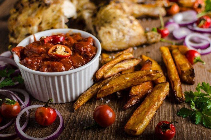 poulet piri piri et frites